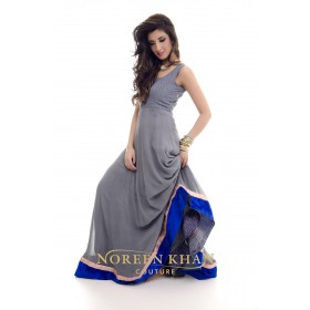 Floor length Anarkali dress with jacket